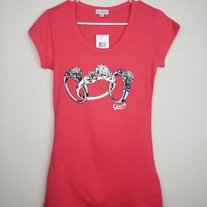 NWT | Guess | Embellished Ring Graphic T-Shirt